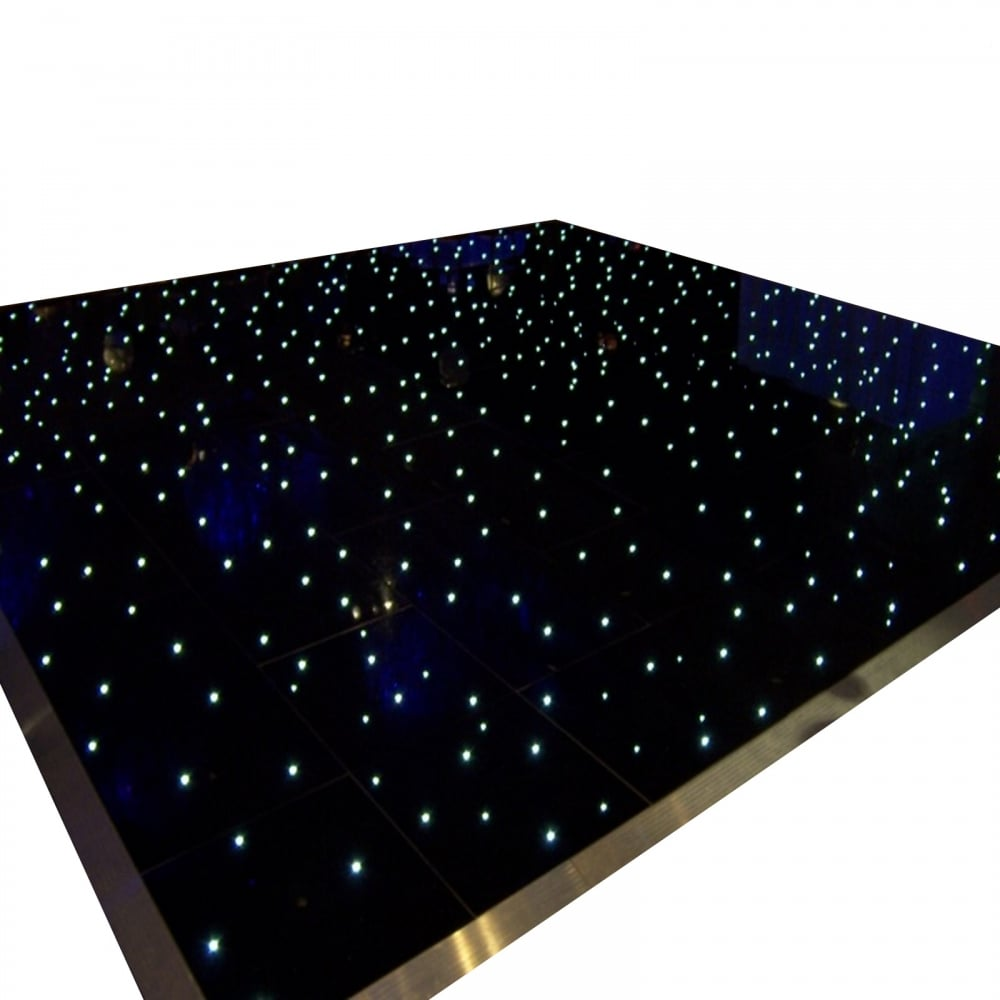 Black LED Starlit dance floor for hire in Surrey & London