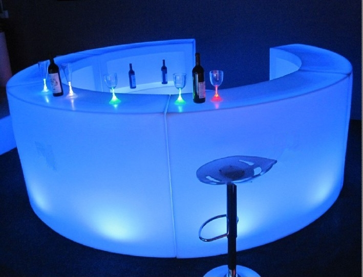 Round Mobile LED Bar For Hire in SUrrey & London