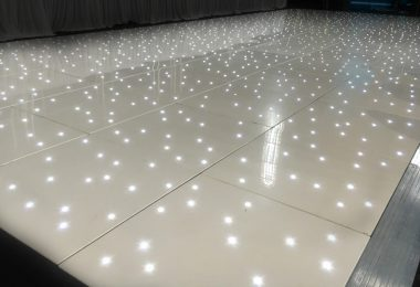 White LED Dance Floor Hire in Surrey & London
